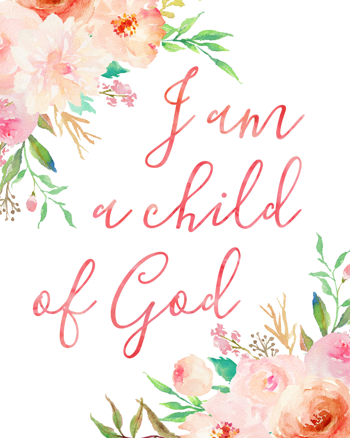 graphic about I Am a Child of God Printable called I am a boy or girl of God - Nursery Artwork by way of Adoren Studio