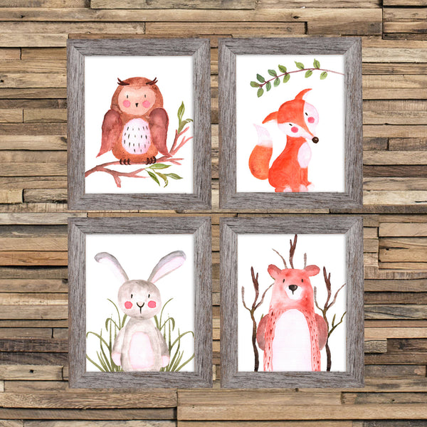 Animal Nursery Art, Woodland Nursery Prints, Woodland Nursery Art, Woodland Wall Art, Woodland Animals Nursery, Bear, Deer, Rabbit, Fox, Owl