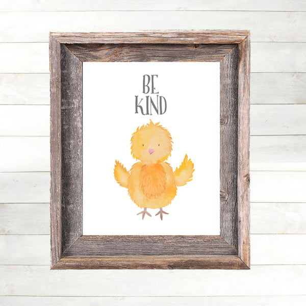Baby Chick Print,  Farm Animal Nursery Art, Farm Nursery Print,  Country Nursery Art, Farmyard Barn Barnyard Country Farmhouse Nursery 8x10