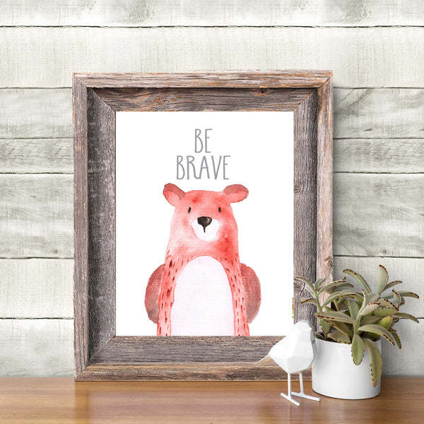 Bear Art Print 8x10 Watercolor Bear Woodland Nursery Decor Forest Nursery Woodland Nursery Wall Art Print, Kids Room Art, Boys Room Art,