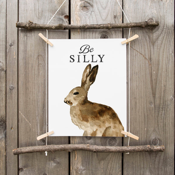 Bunny Rabbit Nursery Art Print Bunny Nursery Decor Watercolor Woodland Bunny Art Print Printable Art Gray Black White Minimalist Nursery Art