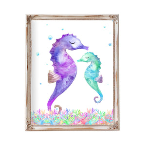 Beach Bathroom Decor Sea Horse Seahorse  Decor Seahorse Art Seahorse Print Printable Kids Bathroom Art Ocean Theme Art Seahorses Sea Horses