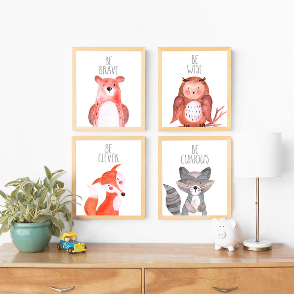 Woodland Nursery Decor Boy Baby Boy Nursery Art Nursery Decor Boy Nursery Wall Art Nursery Prints Woodland Baby Shower Decor Nursery Animal