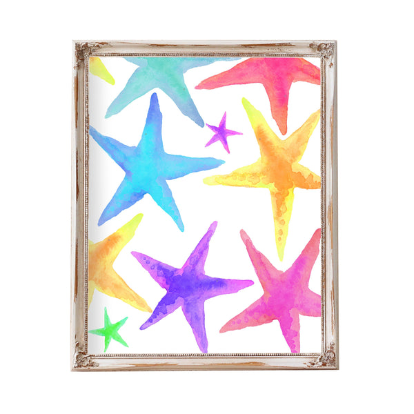 Beach Bathroom Decor Starfish Decor Starfish Art Starfish Print Printable Kids Bathroom Art Ocean Theme Art Starfish Watercolor Starfish Art