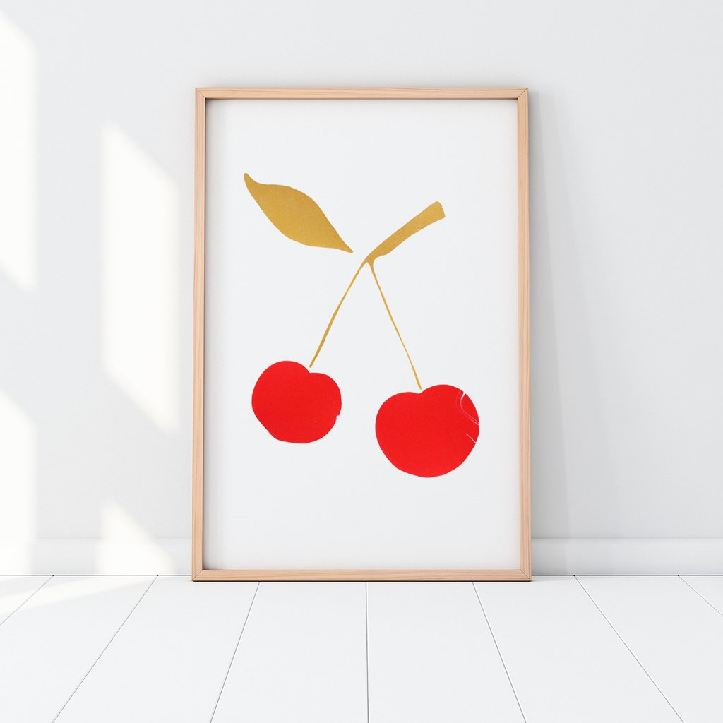 Red & Gold CHERRY Silkscreen