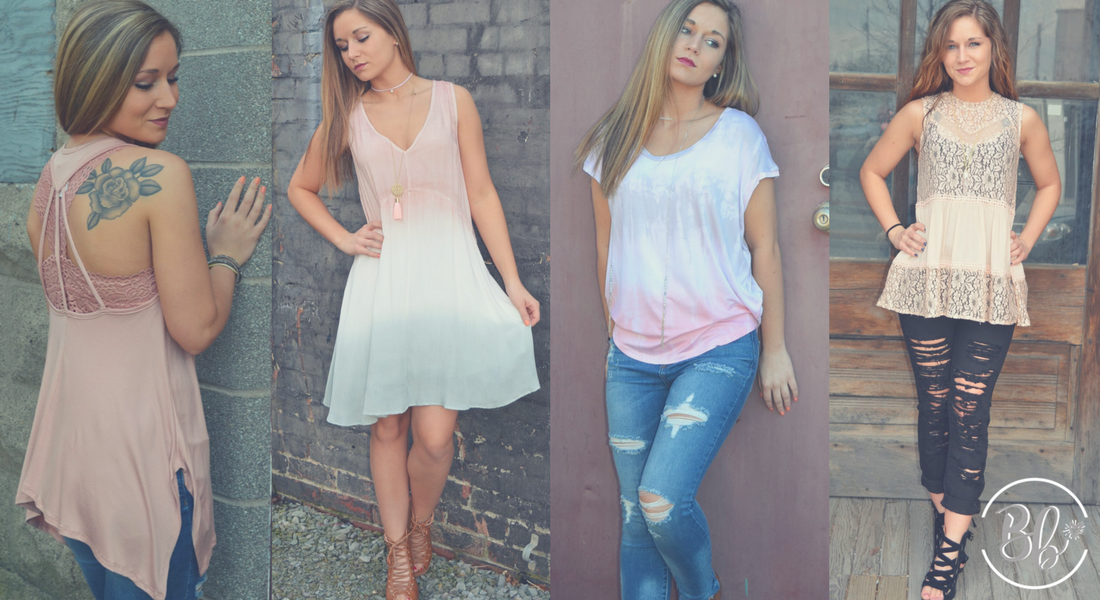 Blush Spring Style Collection | B'Dazzled Boutique | Online Women's Fashion Boutique