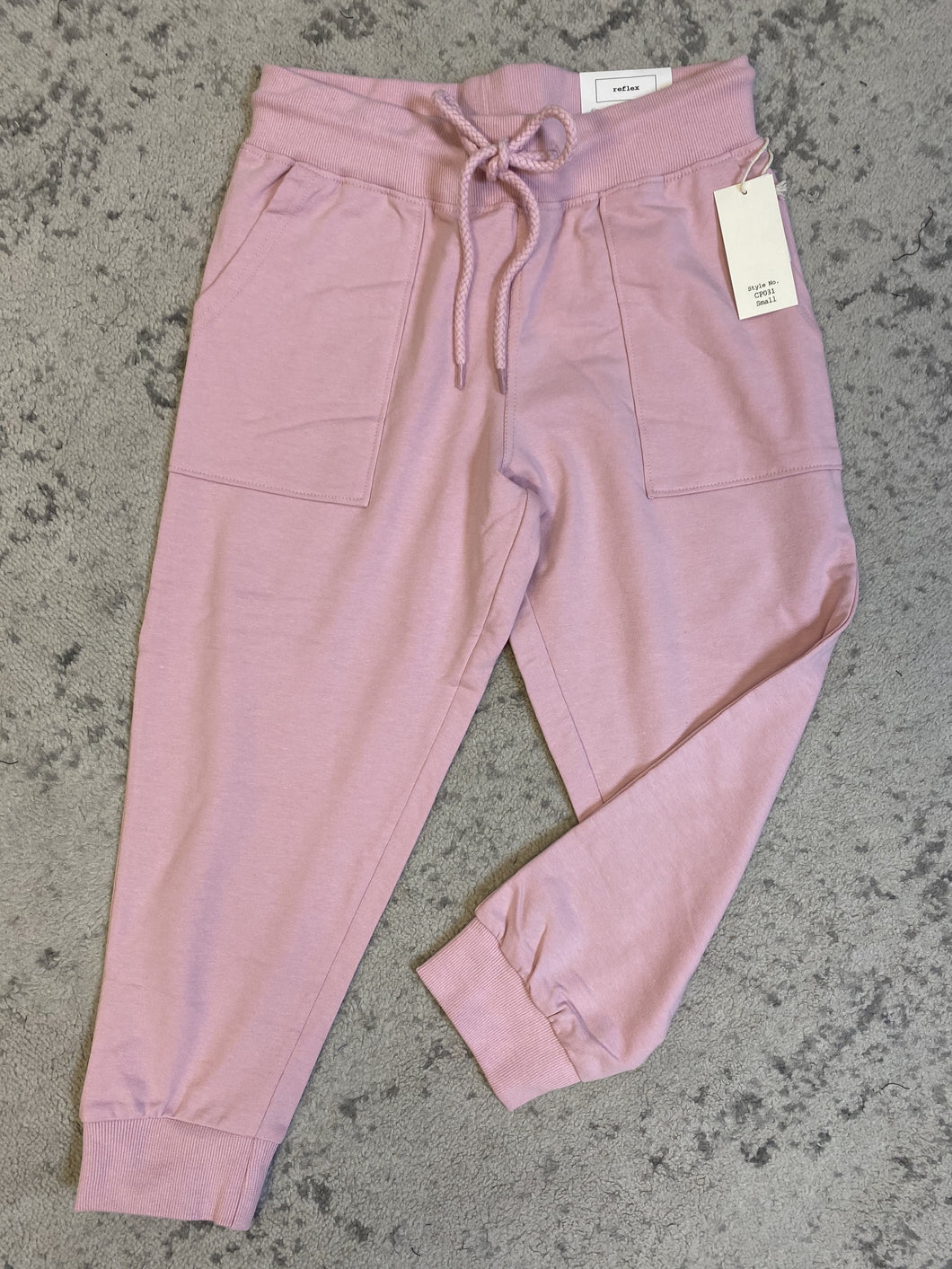 Pink Terry High Rise Capri Joggers 4/7/21 7905