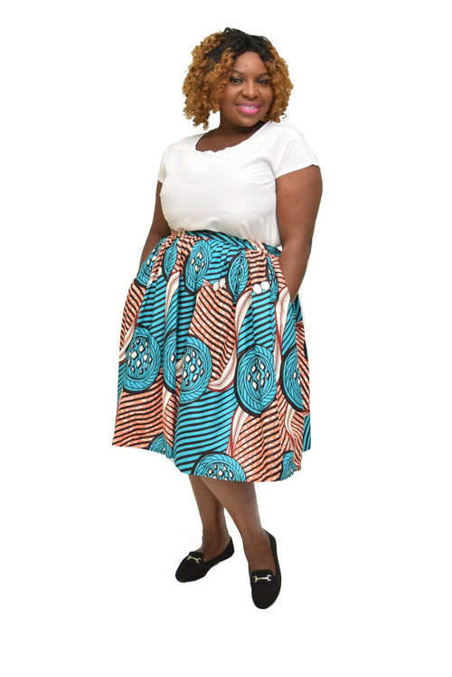 Women's Ankara Gathered Short Skirt