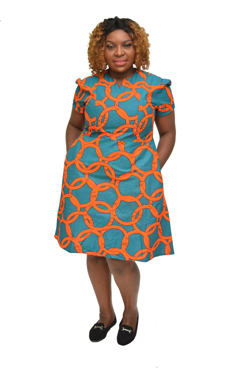 Women's Ankara Flare Dress