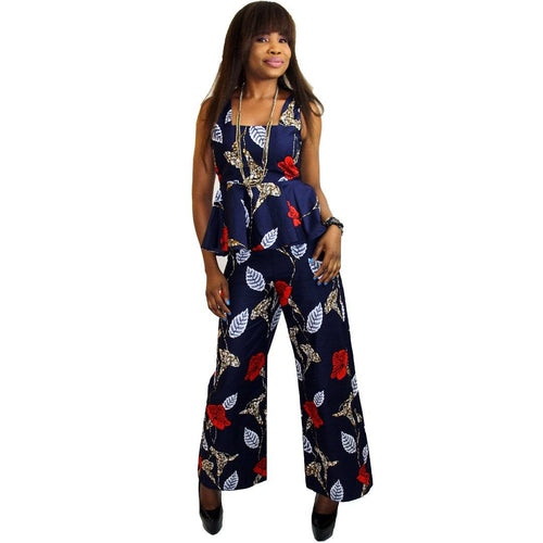 PARTY - Women's Ankara Palazzo Trouser And Sleeveless Peplum Top