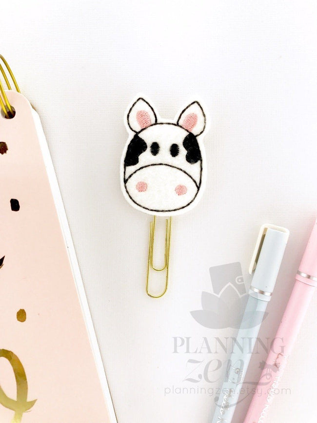 Cow Planner Clip - Planning Zen Planner Accessories