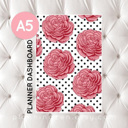 A5 Planner Dashboard - Floral Romance #3
