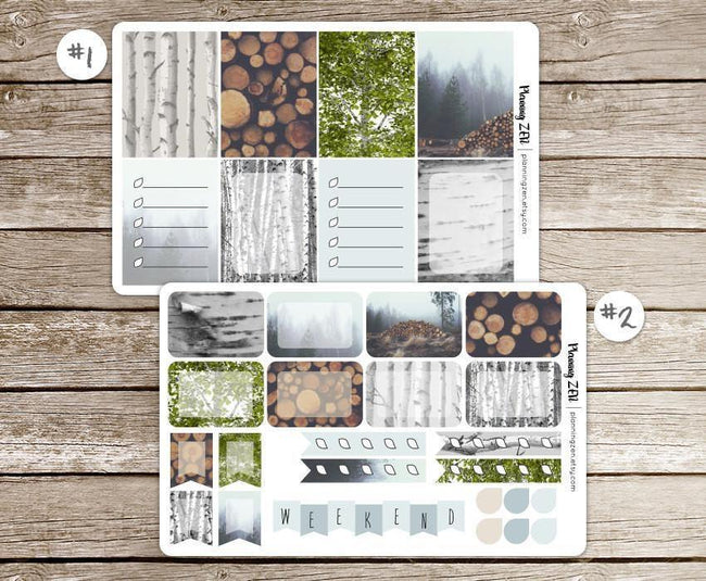 Craft Supplies & Tools - Birch Forest Vinyl Planner Stickers For Use With EC Vertical Planners