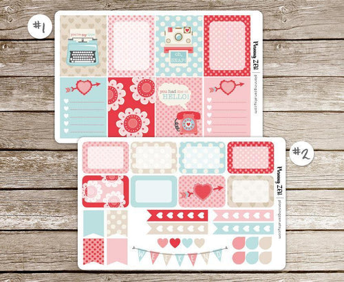 Love Messages Vinyl Planner Stickers for use with EC Vertical Planners