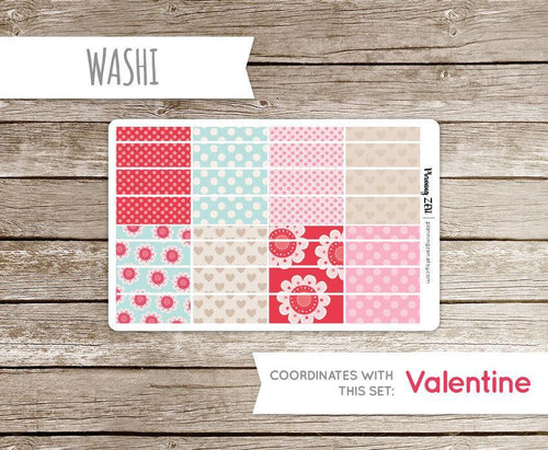 Love Messages Washi Strips Vinyl Planner Stickers for use with EC Vertical Planners