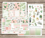 Craft Supplies & Tools - Painted Cactus Vinyl Planner Stickers For Use With EC Vertical Planners