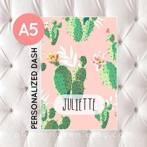 Personalized A5 Planner Dashboard - Cactus #1