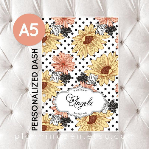 Personalized A5 Planner Dashboard - Floral Romance #2