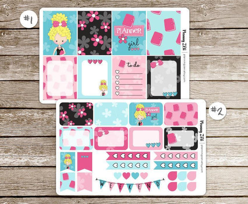 Planner Girl Vinyl Planner Stickers for use with EC Vertical Planners