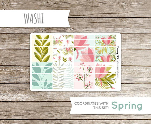 Spring Floral Washi Strips Vinyl Planner Stickers for use with EC Vertical Planners