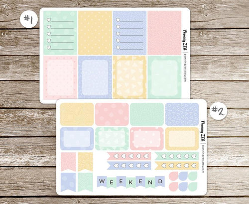 Sweet Baby Pastel Patterns Vinyl Planner Stickers for use with EC Vertical Planners