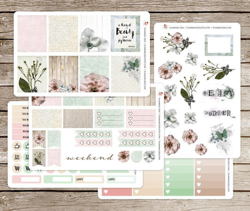 Vintage Beauty Vinyl Planner Stickers for use with EC Vertical Planners