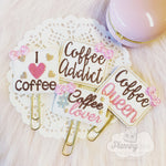 Coffee Lover Planner Clips