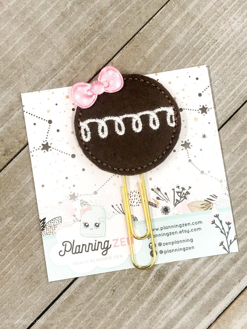 Chocolate Cupcake Planner Clip