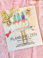 Birthday Cake Felt Planner Clip - Planning Zen Planner Accessories