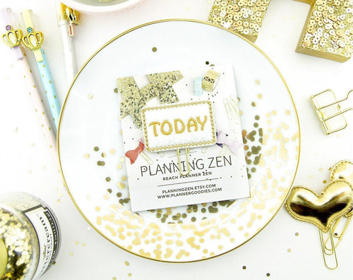 Gold Today Page Marker Planner Clip