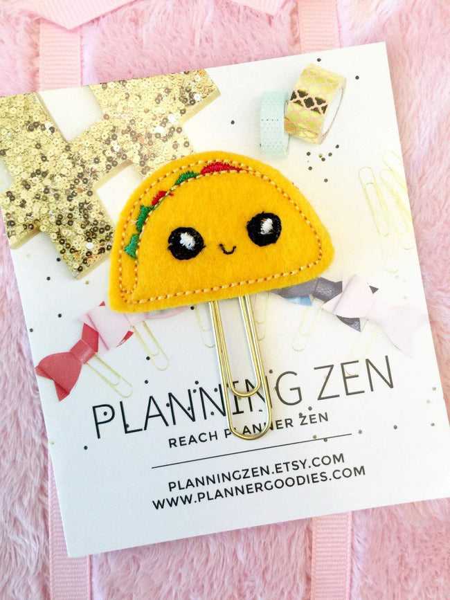 Paper & Party Supplies - Kawaii Taco Planner Clip