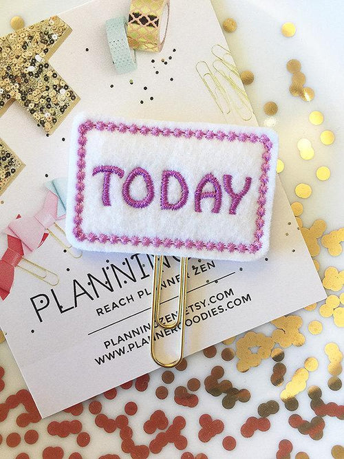Purple Today Felt Planner Clip