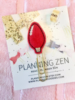 Red Christmas Light Bulb Holiday Felt Planner Clip - Planning Zen Planner Accessories