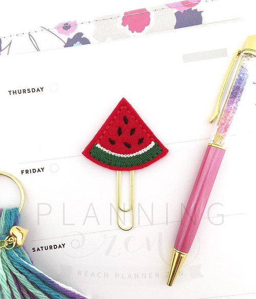 Red Watermelon Planner Clip