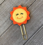 Paper & Party Supplies - Smiling Sun Summer Felt Planner Clip