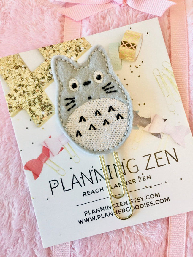 Paper & Party Supplies - Totoro Felt Planner Clip