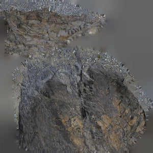16k resolution UV texture for a 3d model of a rock wall