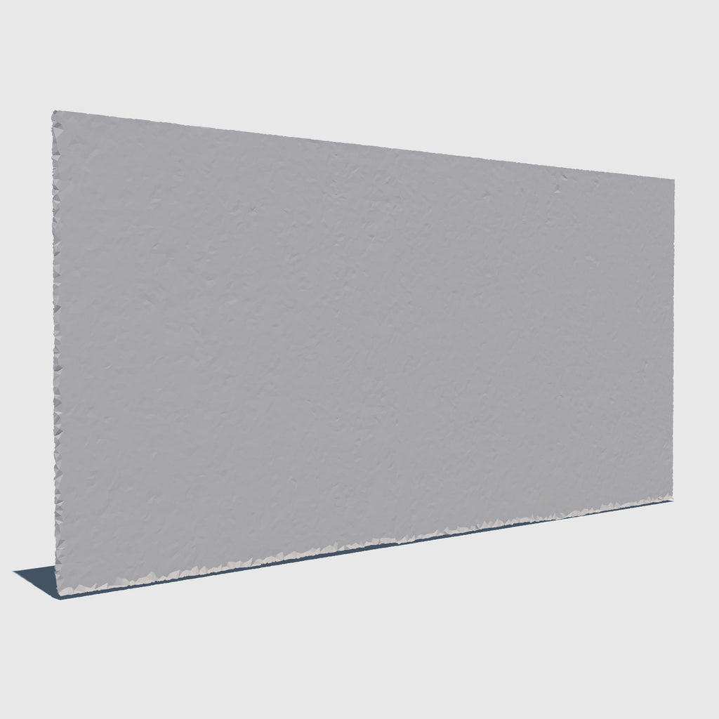 low resolution 3d concrete wall with clay applied