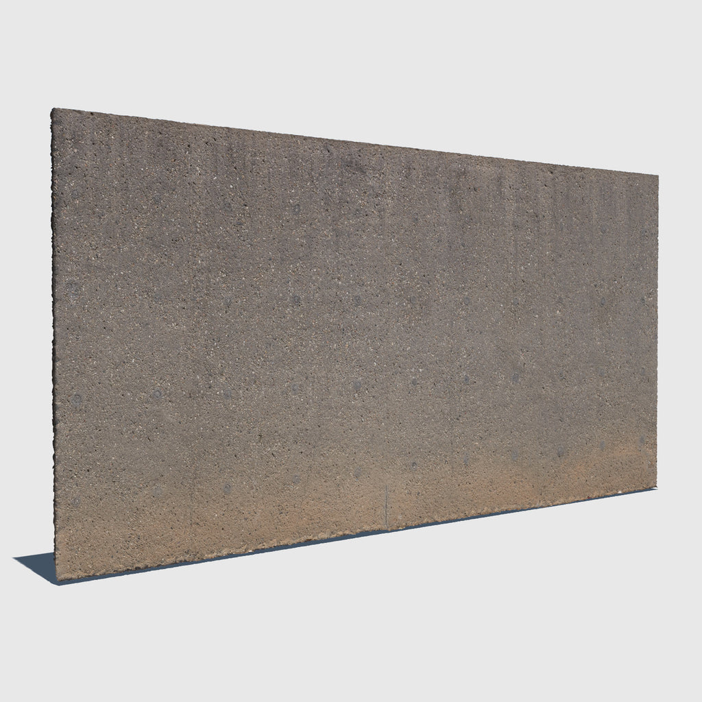 low resolution 3d concrete wall with texture applied