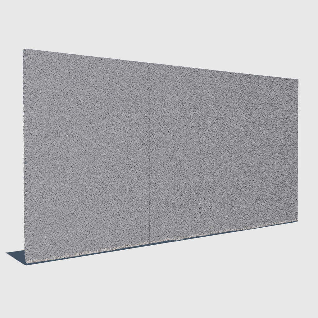 low resolution 3d concrete wall with wireframe applied