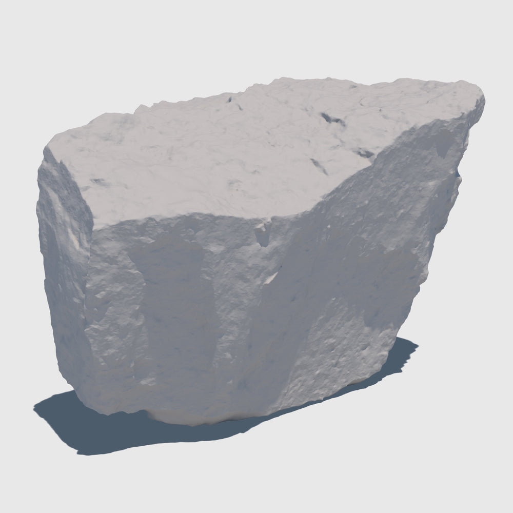 uv texture map of a small dirty cream colored rock