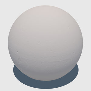 large cg aggregate cement ball that was rendered with a high resolution clay