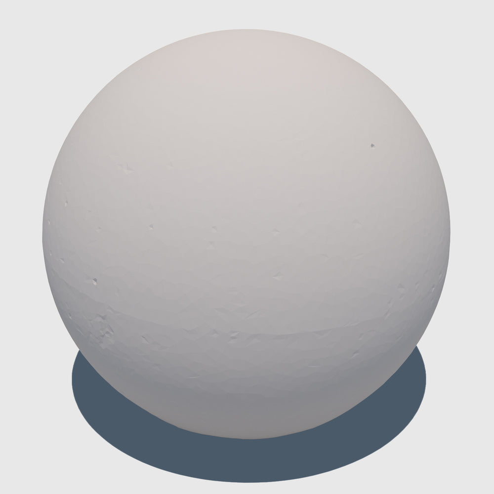 large cg aggregate cement ball that was rendered with a low resolution clay