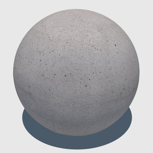 large cg aggregate cement ball that was rendered with a low resolution texture