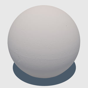 large cg aggregate cement ball that was rendered with a medium resolution clay