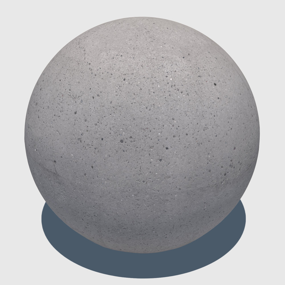 large cg aggregate cement ball that was rendered with a medium resolution texture