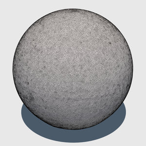 large cg aggregate cement ball that was rendered with a medium resolution wireframe