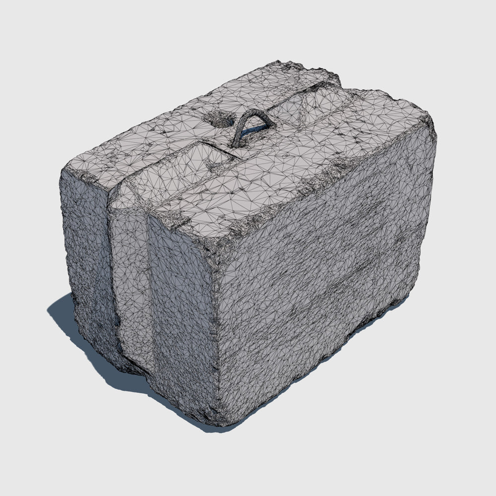 Concrete Block 3D Model | POP417