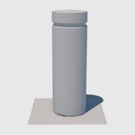 uv texture map of a gray cylinder cement cg parking bollard