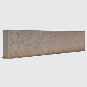 long orange-tinted concrete aggregate 3d wall rendered in high resolution texture